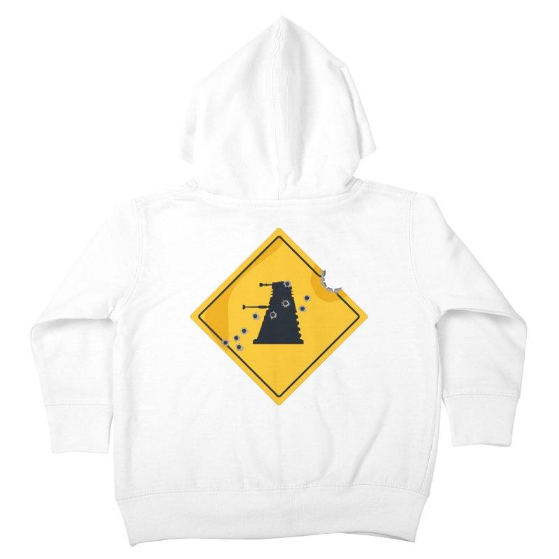 Dalek Crossing Kids Toddler Zip-Up Hoody by TCarver T-shirt Designs