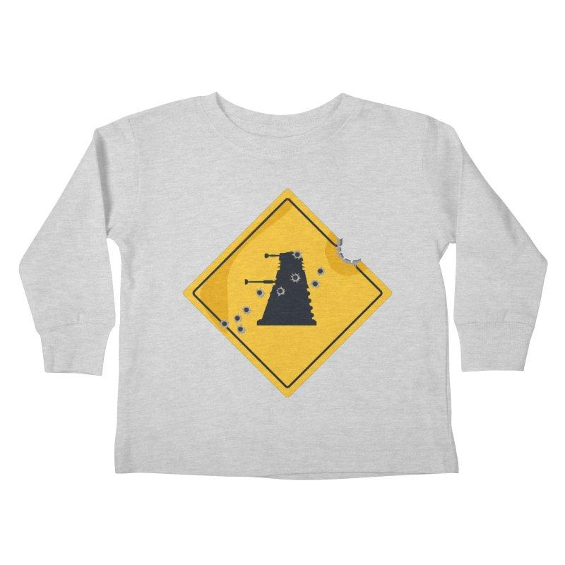 Dalek Crossing Kids Toddler Longsleeve T-Shirt by TCarver T-shirt Designs