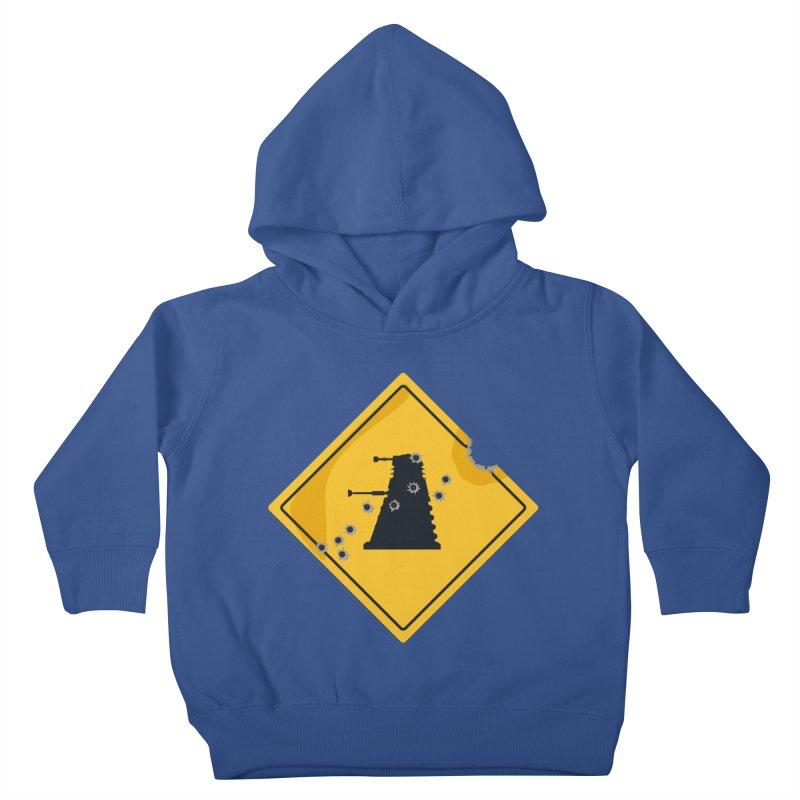 Dalek Crossing Kids Toddler Pullover Hoody by TCarver T-shirt Designs