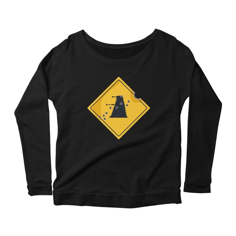 Dalek Crossing Women's Longsleeve Scoopneck  by TCarver T-shirt Designs