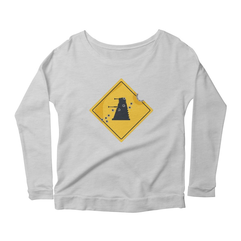 Dalek Crossing Women's Longsleeve Scoopneck  by TCarver T-shirt Designs