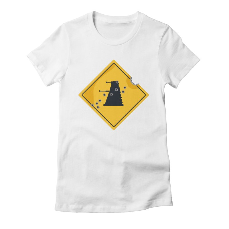 Dalek Crossing Women's Fitted T-Shirt by TCarver T-shirt Designs