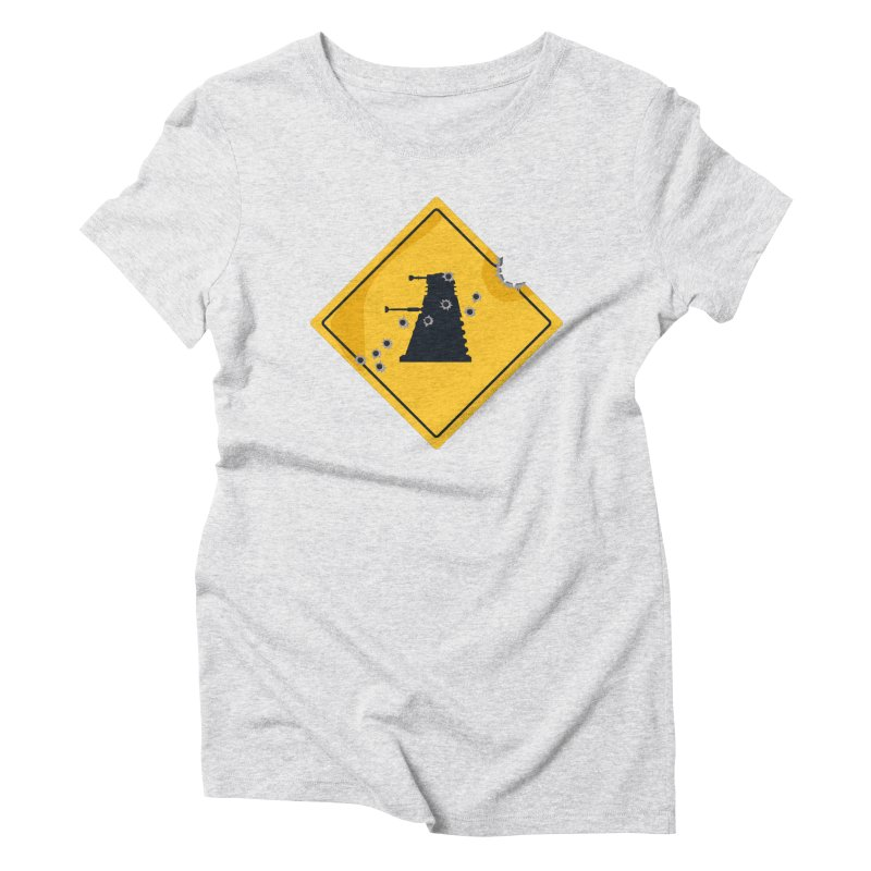 Dalek Crossing Women's Triblend T-shirt by TCarver T-shirt Designs