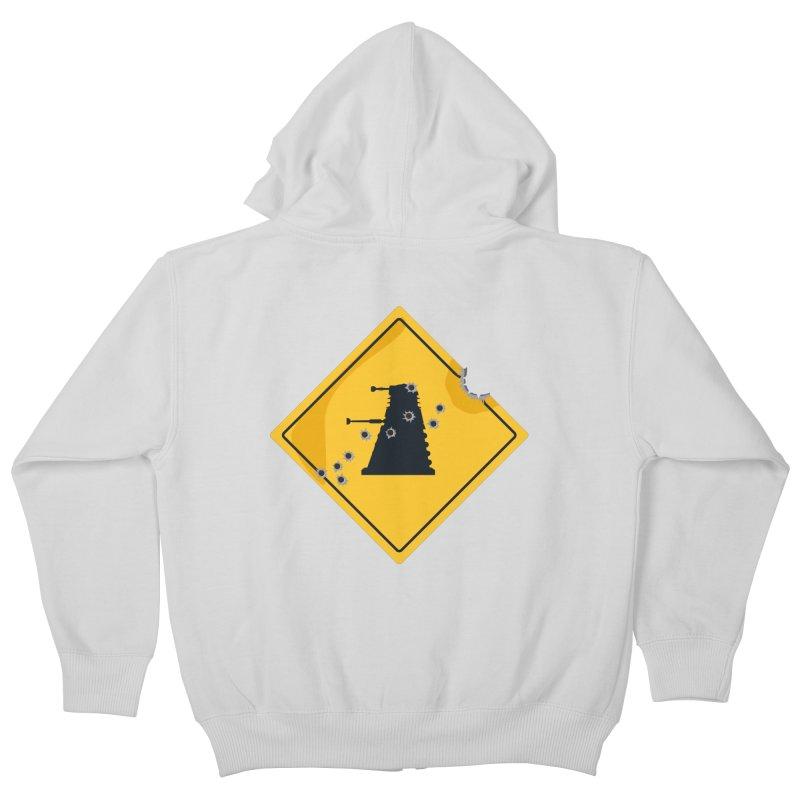 Dalek Crossing Kids Zip-Up Hoody by TCarver T-shirt Designs