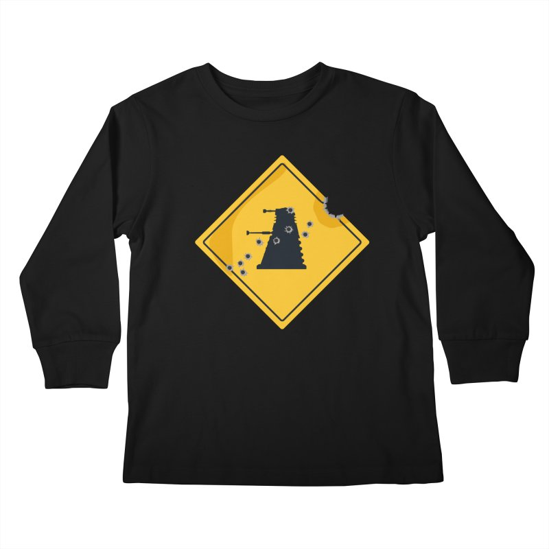 Dalek Crossing Kids Longsleeve T-Shirt by TCarver T-shirt Designs