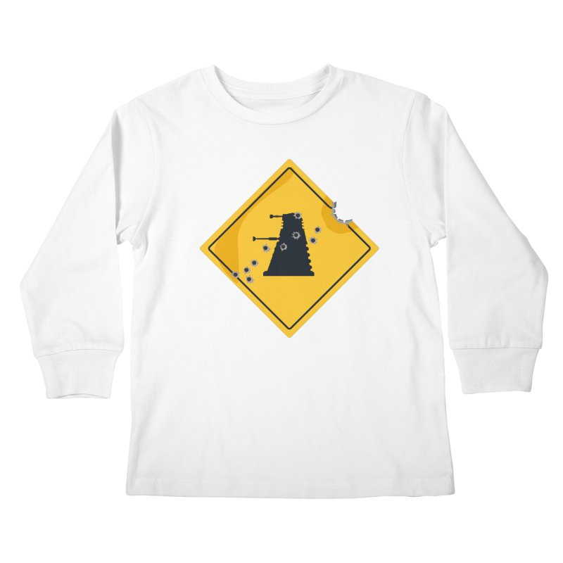 Dalek Crossing Kids Longsleeve T-Shirt by TCarver T-shirt Designs