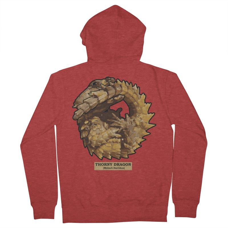 Thorny Dragon Men's Zip-Up Hoody by TCarver T-shirt Designs
