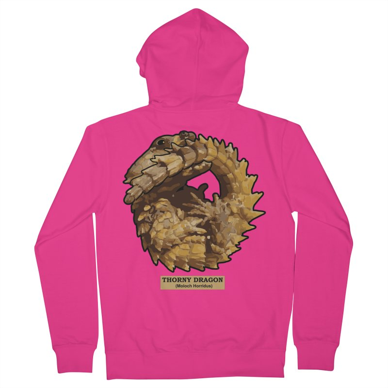 Thorny Dragon Men's Zip-Up Hoody by TCarver T-shirt Designs