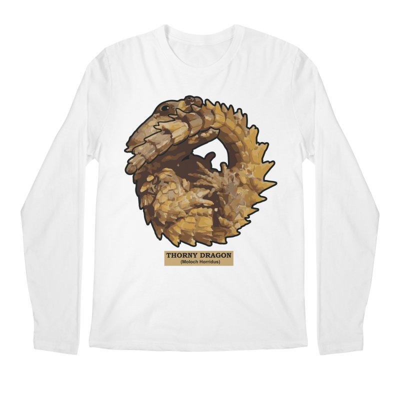 Thorny Dragon Men's Longsleeve T-Shirt by TCarver T-shirt Designs