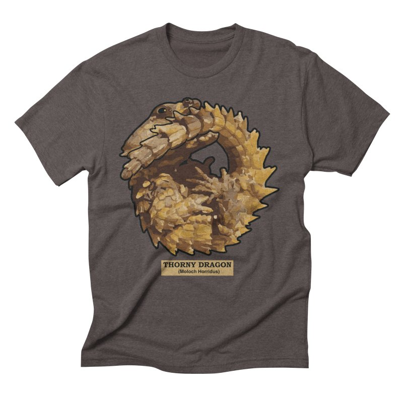Thorny Dragon Men's Triblend T-shirt by TCarver T-shirt Designs