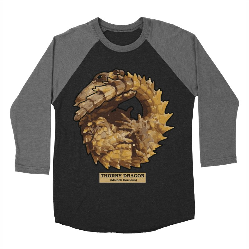 Thorny Dragon Men's Baseball Triblend T-Shirt by TCarver T-shirt Designs