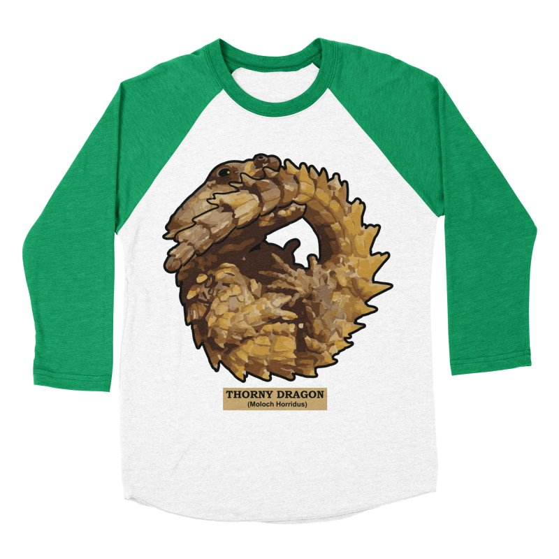 Thorny Dragon Men's Baseball Triblend T-Shirt by TCarver T-shirt Designs