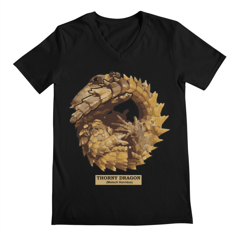 Thorny Dragon Men's V-Neck by TCarver T-shirt Designs