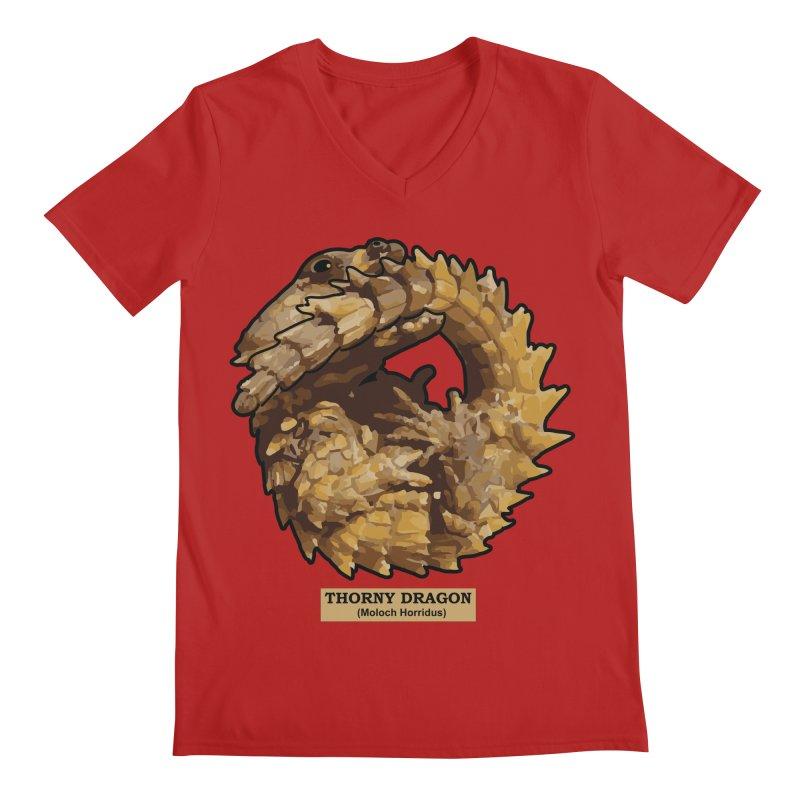 Thorny Dragon Men's V-Neck by TCarver T-shirt Designs