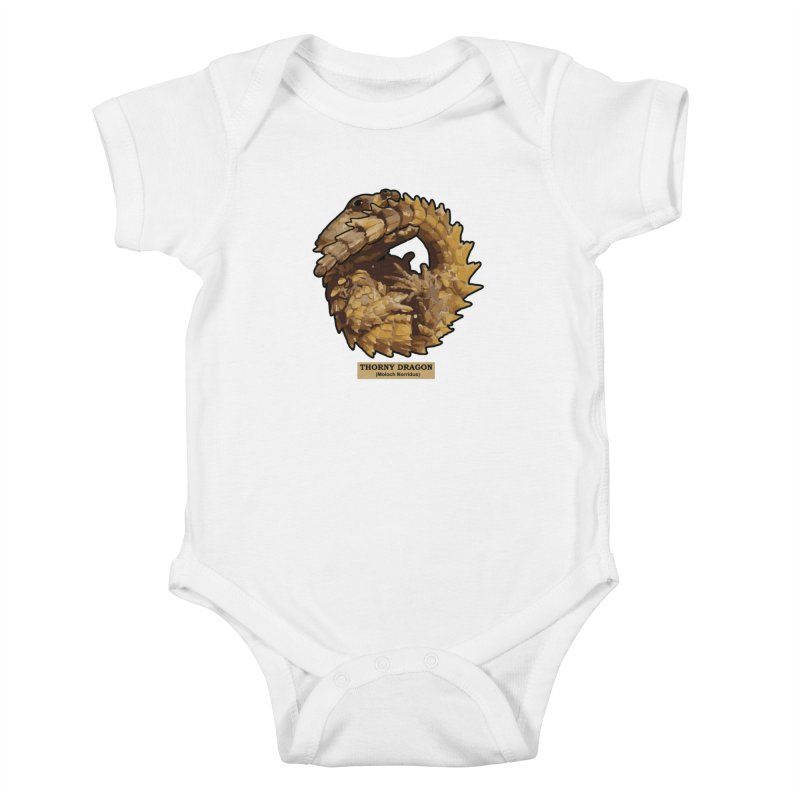 Thorny Dragon Kids Baby Bodysuit by TCarver T-shirt Designs