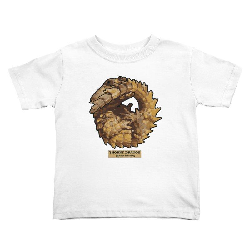 Thorny Dragon Kids Toddler T-Shirt by TCarver T-shirt Designs