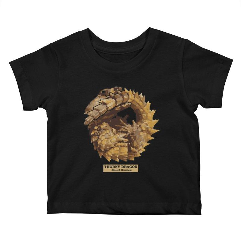 Thorny Dragon Kids Baby T-Shirt by TCarver T-shirt Designs