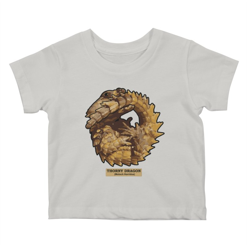 Thorny Dragon Kids Baby T-Shirt by TCarver T-shirt Designs