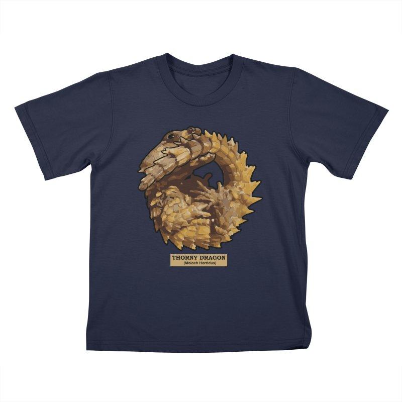 Thorny Dragon Kids T-Shirt by TCarver T-shirt Designs
