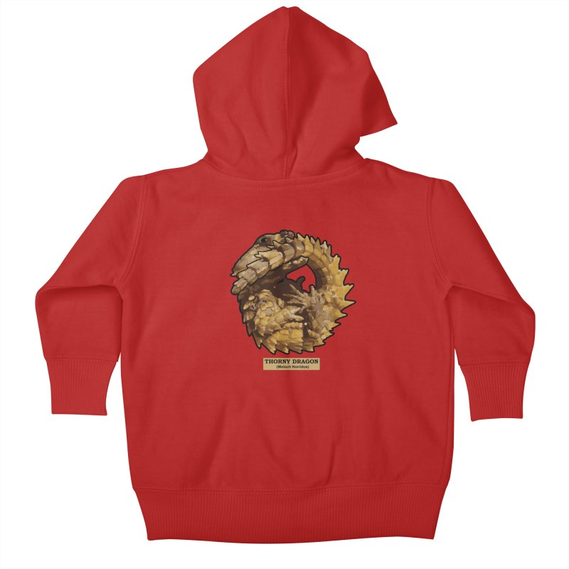Thorny Dragon Kids Baby Zip-Up Hoody by TCarver T-shirt Designs