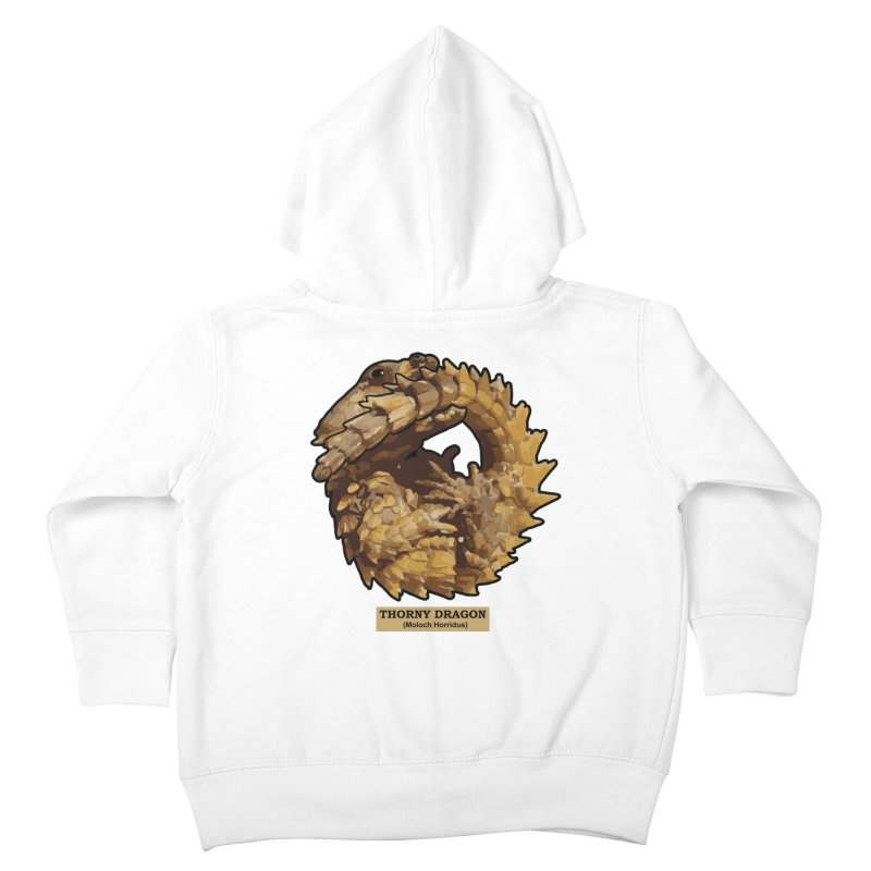 Thorny Dragon Kids Toddler Zip-Up Hoody by TCarver T-shirt Designs
