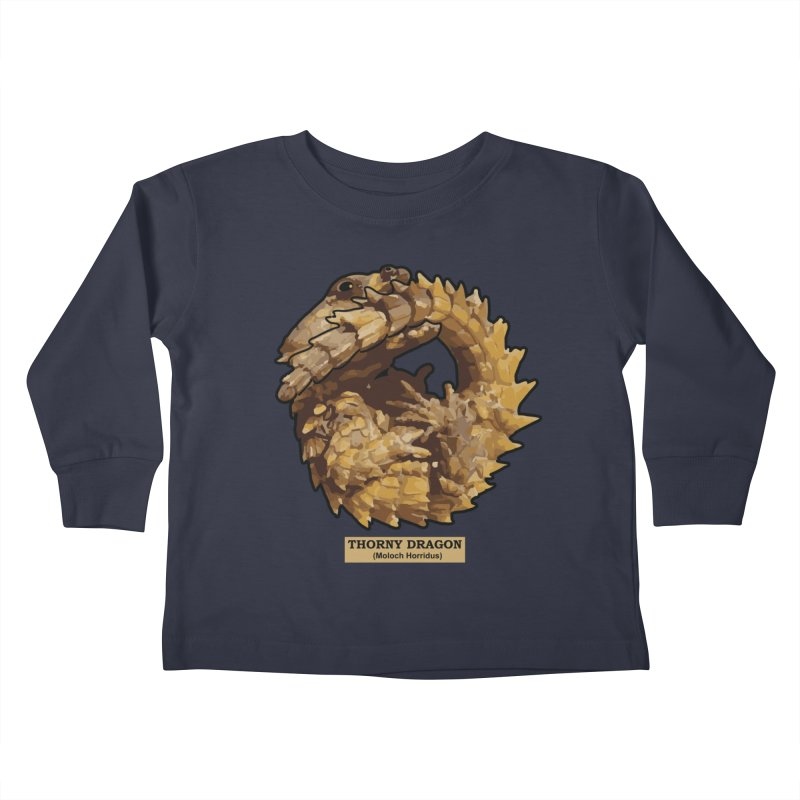 Thorny Dragon Kids Toddler Longsleeve T-Shirt by TCarver T-shirt Designs