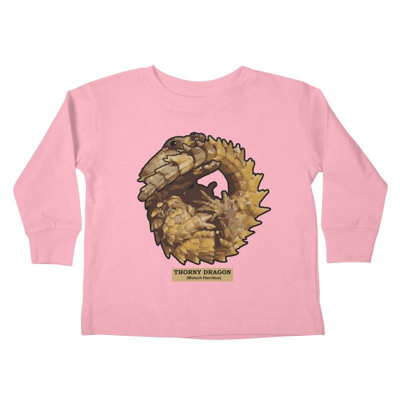 Thorny Dragon Kids Toddler Longsleeve T-Shirt by TCarver T-shirt Designs