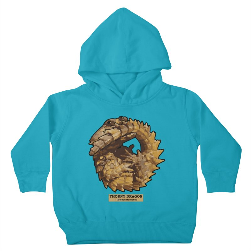 Thorny Dragon Kids Toddler Pullover Hoody by TCarver T-shirt Designs