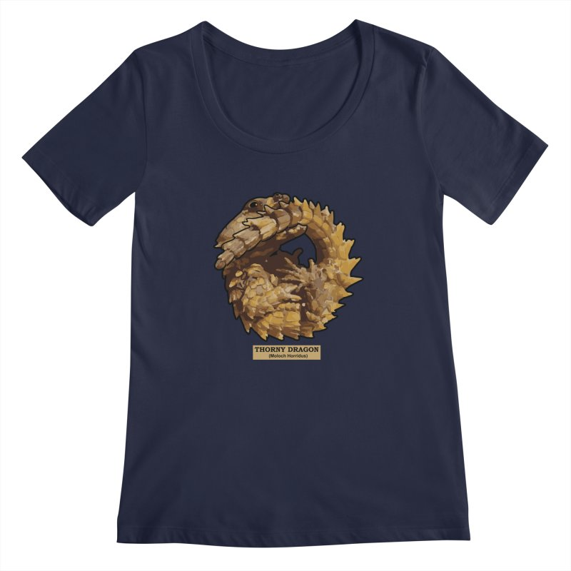 Thorny Dragon Women's Scoopneck by TCarver T-shirt Designs