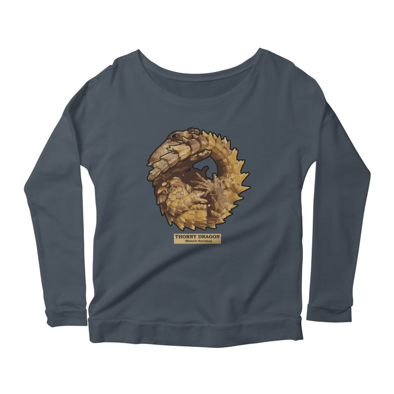 Thorny Dragon Women's Longsleeve Scoopneck  by TCarver T-shirt Designs