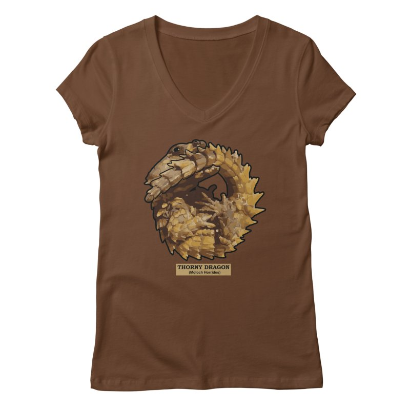 Thorny Dragon Women's V-Neck by TCarver T-shirt Designs