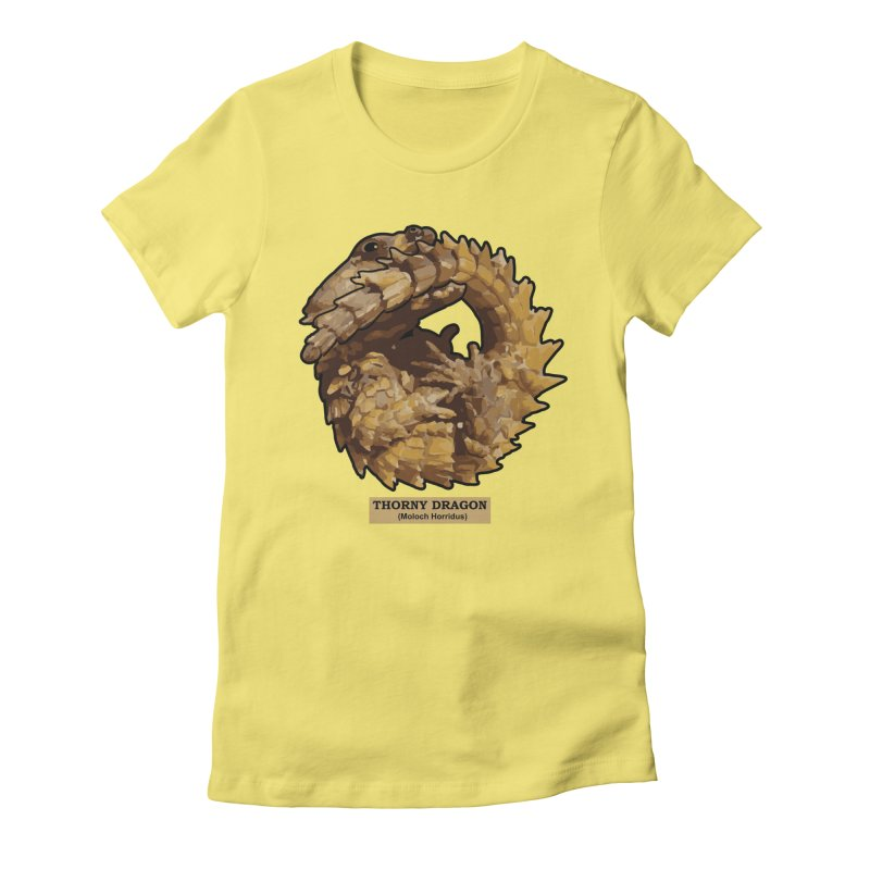 Thorny Dragon Women's Fitted T-Shirt by TCarver T-shirt Designs