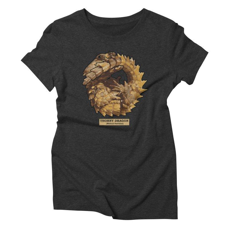 Thorny Dragon Women's Triblend T-Shirt by TCarver T-shirt Designs