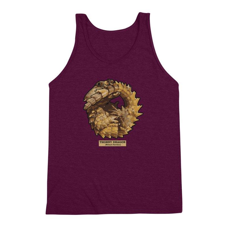 Thorny Dragon Men's Triblend Tank by TCarver T-shirt Designs
