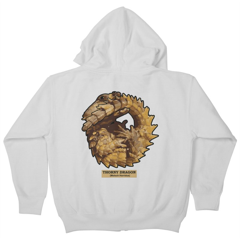 Thorny Dragon Kids Zip-Up Hoody by TCarver T-shirt Designs