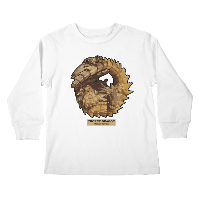 Thorny Dragon Kids Longsleeve T-Shirt by TCarver T-shirt Designs