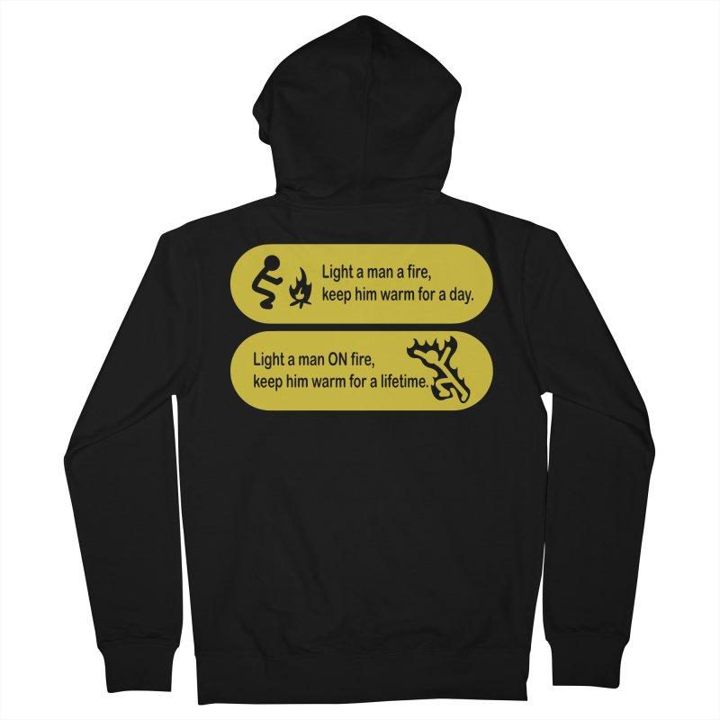 Light a Man a Fire ... Women's Zip-Up Hoody by TCarver T-shirt Designs