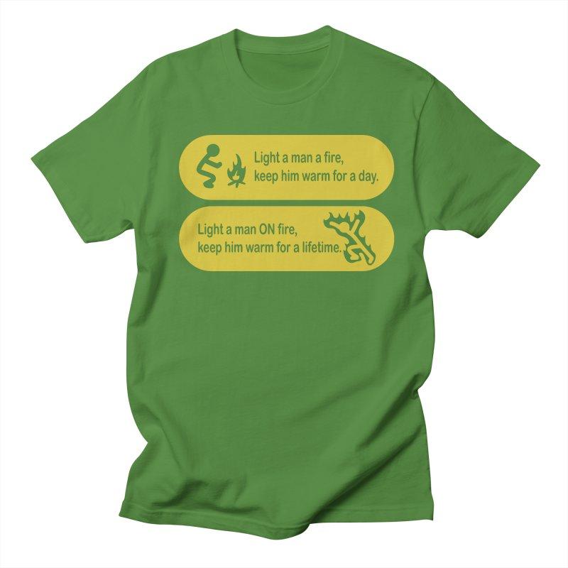 Light a Man a Fire ... Men's T-Shirt by TCarver T-shirt Designs