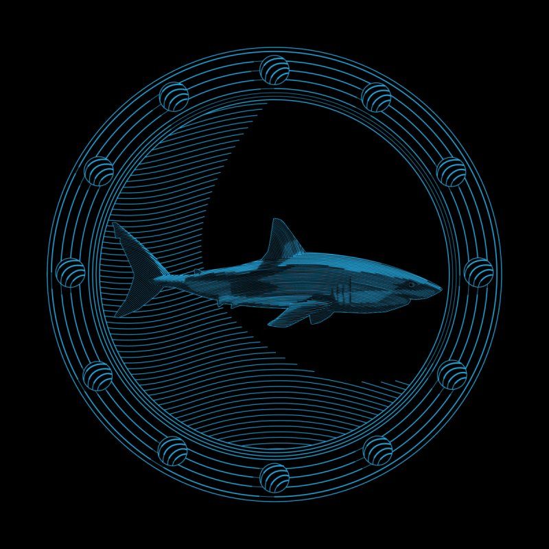 Portal Shark None  by TCarver T-shirt Designs