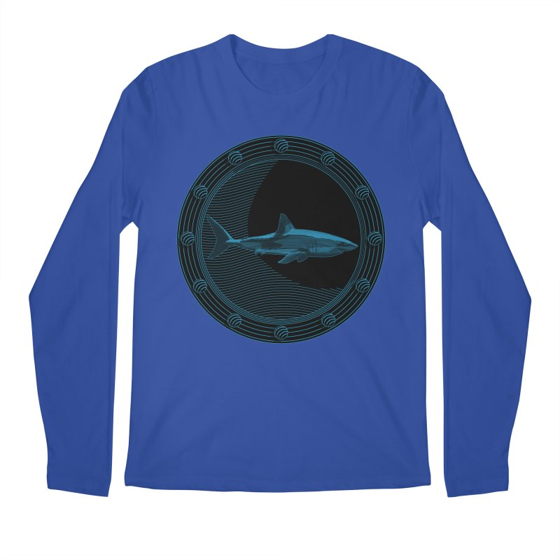 Portal Shark Men's Longsleeve T-Shirt by TCarver T-shirt Designs