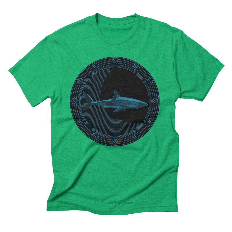 Portal Shark Men's Triblend T-shirt by TCarver T-shirt Designs