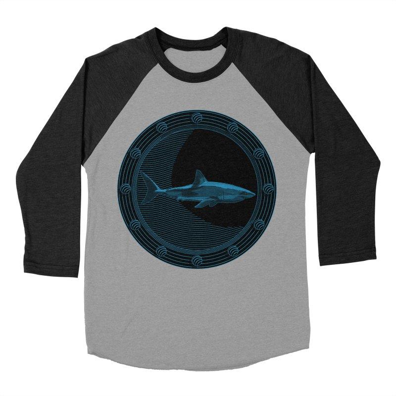 Portal Shark Women's Baseball Triblend T-Shirt by TCarver T-shirt Designs