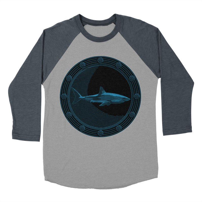 Portal Shark Men's Baseball Triblend T-Shirt by TCarver T-shirt Designs