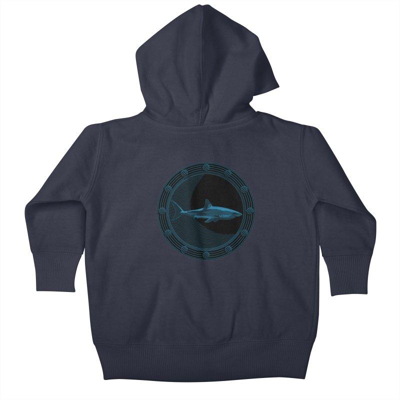 Portal Shark Kids Baby Zip-Up Hoody by TCarver T-shirt Designs
