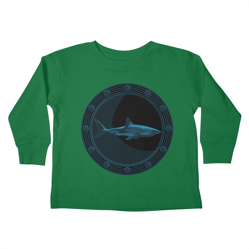 Portal Shark Kids Toddler Longsleeve T-Shirt by TCarver T-shirt Designs