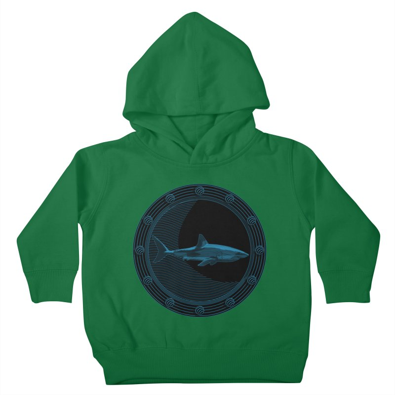 Portal Shark Kids Toddler Pullover Hoody by TCarver T-shirt Designs