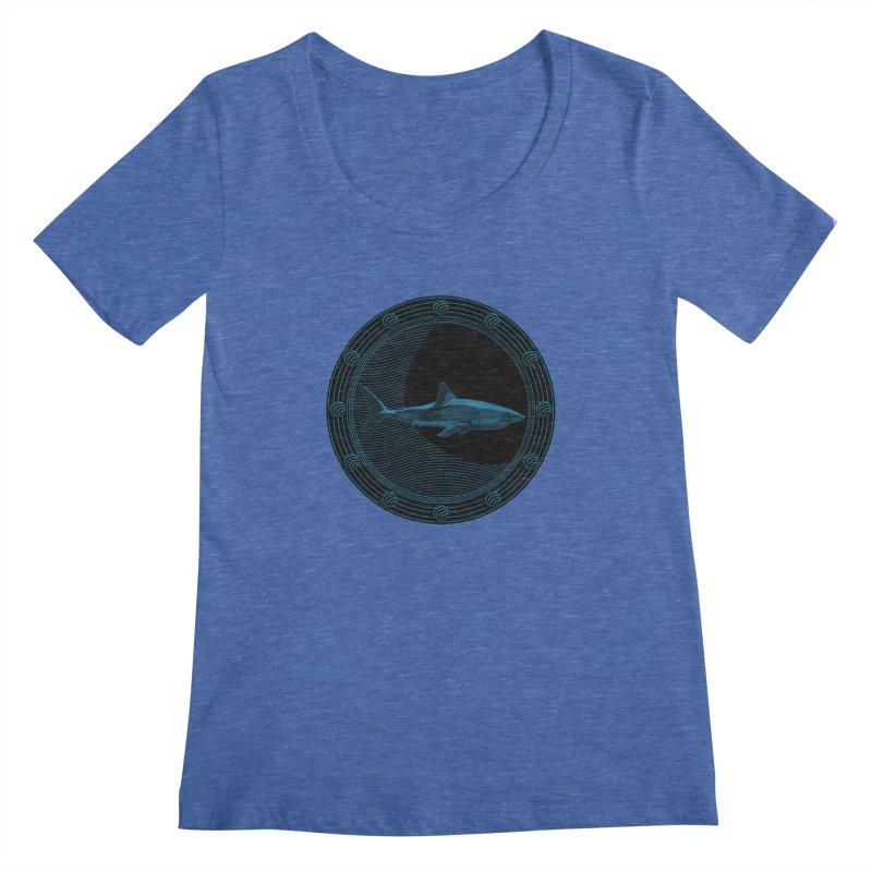 Portal Shark Women's Scoopneck by TCarver T-shirt Designs