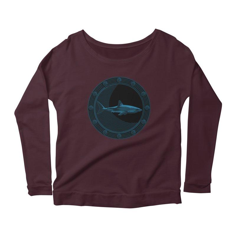 Portal Shark Women's Longsleeve Scoopneck  by TCarver T-shirt Designs
