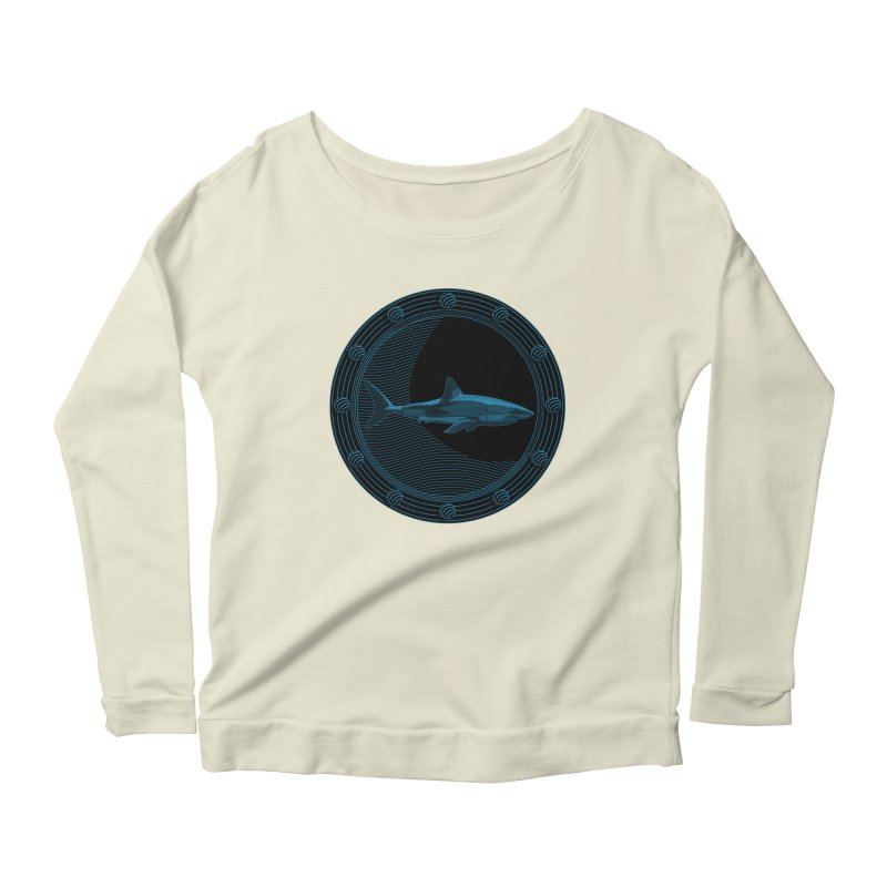 Portal Shark Women's Longsleeve Scoopneck  by TCarver T-shirt Designs
