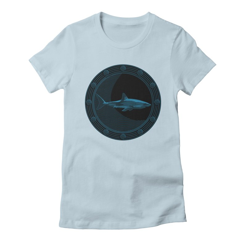 Portal Shark Women's Fitted T-Shirt by TCarver T-shirt Designs